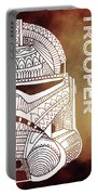 Stormtrooper Helmet - Brown - Star Wars Art Portable Battery Charger