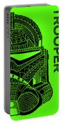 Stormtrooper Helmet - Green - Star Wars Art Portable Battery Charger