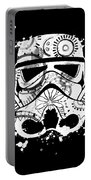 Stormtrooper Mask White Black 5 Portable Battery Charger