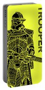 Stormtrooper - Yellow - Star Wars Art Portable Battery Charger