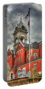 Stormy Day Jones County Georgia Court House Art Portable Battery Charger