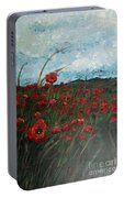 Stormy Poppies Portable Battery Charger