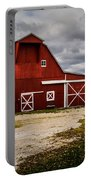 Stormy Red Barn Portable Battery Charger