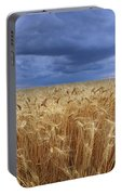 Stormy Wheat Field Portable Battery Charger