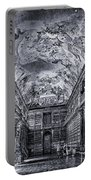 Strahov Monastery Philosophical Hall Bw Portable Battery Charger
