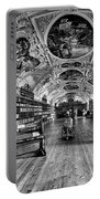 Strahov Monastery Theological Hall Bw Portable Battery Charger