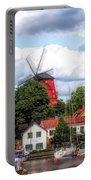 Windmill In Strangnas Sweden Portable Battery Charger
