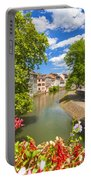 Strasbourg, Half-tmbered Houses, Petite France, Alsace, France Portable Battery Charger