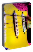Stratocaster Pop Art Pink Fire Neck Series Portable Battery Charger