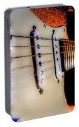 Stratocaster Pop Art Tangerine Sparkle Fire Neck Series Portable Battery Charger