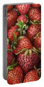 Strawberries -2 Contemporary Oil Painting Portable Battery Charger