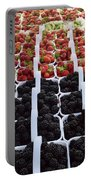 Strawberries And Blackberries Portable Battery Charger