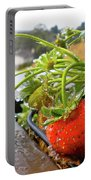 Strawberries And Rain Portable Battery Charger