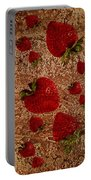Strawberries And Stone Slab  Portable Battery Charger
