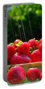 Strawberries And Summer Showers Portable Battery Charger