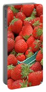 Strawberries Jersey Fresh Portable Battery Charger