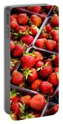 Strawberries With Green Weed In Plastic Containers  Portable Battery Charger
