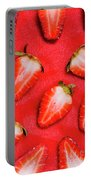 Strawberry Slice Food Still Life Portable Battery Charger