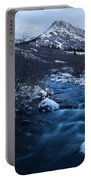 Mountain Stream In Twilight Portable Battery Charger