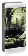 Stream In An Ancient Wood Portable Battery Charger
