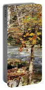 Stream In An Autumn Woods Portable Battery Charger