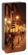 Street At Night, Lima Peru Portable Battery Charger