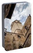 Street Behind The Barcelona Cathedral In Spain. Portable Battery Charger