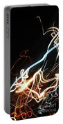 Street Busy At Night  Abstract Portable Battery Charger