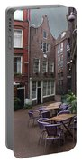 Street Cafe Mooy In Amsterdam Portable Battery Charger