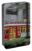 Street Car Flying Down Canal Portable Battery Charger