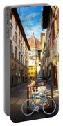 Street In Florence Portable Battery Charger