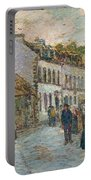 Street In Pont Aven Portable Battery Charger by Childe Hassam