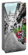 Street In Sicily Portable Battery Charger
