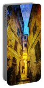 Street In Vernazza - Vintage Version Portable Battery Charger