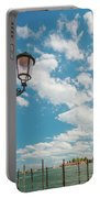 Street Lamp At Venice, Italy Portable Battery Charger