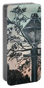 Street Lamp Historic Vintage Art Print Portable Battery Charger
