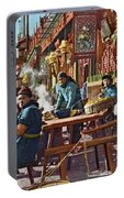 Street Life Of Peking, 1921 Portable Battery Charger