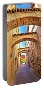 Street Of Sirmione Historic Architecture View Portable Battery Charger
