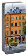Drottninggatan Street Scene  Portable Battery Charger