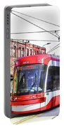 Streetcar On Spadina Avenue #17 Portable Battery Charger