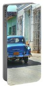Streetlife With Car In Trinidad, Cuba Portable Battery Charger