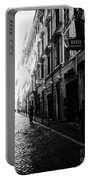 Streets Of Rome 2 Black And White Portable Battery Charger