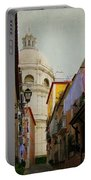 Street Scene In Alfama District Of Lisbon Portable Battery Charger