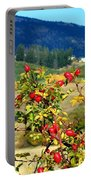 Striking Autumn Red Portable Battery Charger