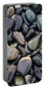 Striped Pebbles Portable Battery Charger