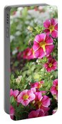 Striped Petunias Portable Battery Charger