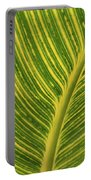 Stripey Leaf Portable Battery Charger