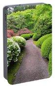 Stroling Garden Path In Japanese Garden Portable Battery Charger