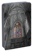 Structures Of St. Patrick Cathedral Bw Portable Battery Charger