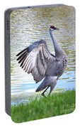 Strutting Sandhill Crane Portable Battery Charger